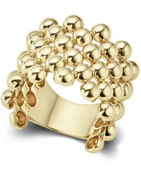 Lagos - Caviar Gold Wide Band Ring - Lyst