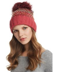 Kyi Kyi - Knit Multi-color Pom-pom Beanie - Lyst