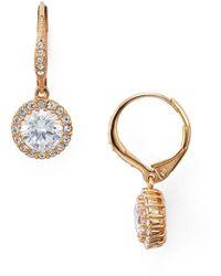 Nadri - Solitaire Drop Earrings - Lyst