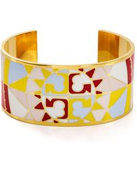 Tory Burch - Constellation Open Cuff Bracelet - Lyst