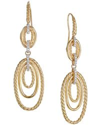 David Yurman - Continuance Drop Earrings With Diamonds In 18k Yellow Gold - Lyst