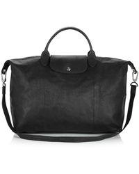 Longchamp - Le Pliage Large Leather Satchel - Lyst