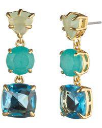 Carolee - Three-stone Linear Drop Earrings - Lyst