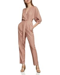 BCBGMAXAZRIA - Crossover Belted Jumpsuit - Lyst