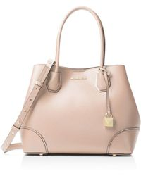 MICHAEL Michael Kors - Mercer Gallery Snap Medium Leather Tote - Lyst