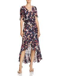 Parker - Demi Floral Faux-wrap Dress - Lyst