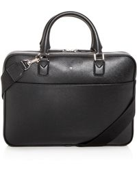Montblanc - Sartorial Ultra Slim Embossed Leather Briefcase - Lyst