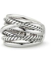 David Yurman - Crossover Wide Ring - Lyst