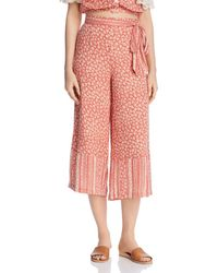 Lost + Wander - Lost + Wander Suns Out Printed Wide-leg Pants - Lyst
