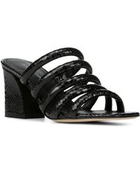 Donald J Pliner - Women's Wes Snake Embossed Leather Block Heel Slide Sandals - Lyst