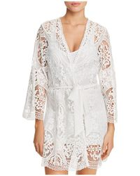 Flora Nikrooz - Juliette Lace Cover-up Robe - Lyst