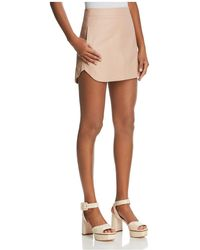 Karina Grimaldi   Jacob Leather Mini Skirt   Lyst