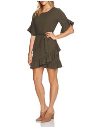 1.STATE - Ruffle Belted Mini Dress - Lyst