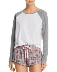 UGG - Charley Raglan Tee   Plaid Shorts Sleep Set - Lyst 67ec50686