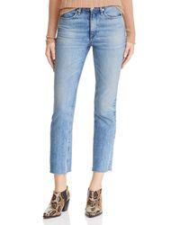 Rag & Bone - Raw-edge Ankle Cigarette Jeans In Farrah - Lyst