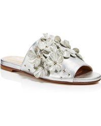 Charles David - Women's Sicilian Metallic Leather Embellished Slide Sandals - Lyst