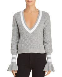 The Fifth Label - Graduate Cable-knit Cropped Sweater - Lyst