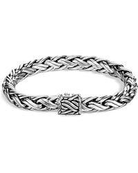John Hardy | Men's Classic Chain Sterling Silver Medium Woven Bracelet | Lyst