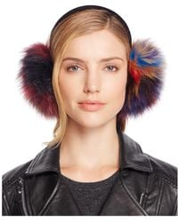 Surell - Multi Colour Fox Fur Ear Muffs - 100% Bloomingdale's Exclusive - Lyst