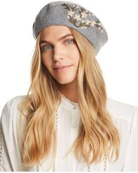 bc8dc76c817881 August Hat Company - Winter Garden Embroidered Beret - Lyst