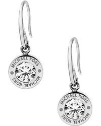 Michael Kors - Logo Disc Drop Earrings - Lyst