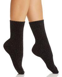 Hue - Chenille Crew Socks - Lyst
