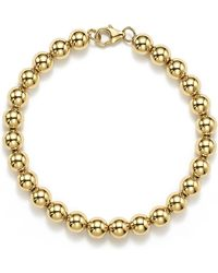 Bloomingdale's - 14k Yellow Gold Beaded Bracelet - Lyst