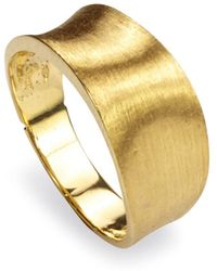 Marco Bicego - 18k Yellow Gold Engraved Lunaria Small Band Ring - Lyst
