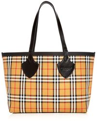Burberry - Medium Giant House Reversible Tote In Vintage Check - Lyst