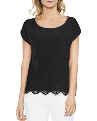 Vince Camuto - Scalloped Eyelet Top - Lyst