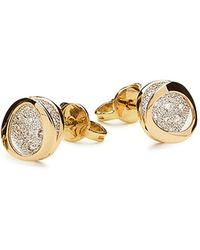Antonini - 18k Yellow Gold Atolli Diamond Small Stud Earrings - Lyst