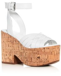 Sigerson Morrison - Women's Becca Leather Platform Wedge Sandals - Lyst