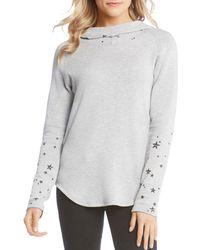 Karen Kane - Star-print Hooded Sweatshirt - Lyst