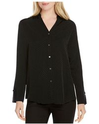Foxcroft - Lilian Dotted Jacquard Blouse - Lyst