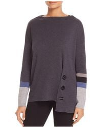 NIC+ZOE - Nic+zoe Toggled Up Asymmetric Sweater - Lyst