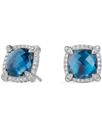 David Yurman - Chatelaine Pave Bezel Stud Earring With Gemstone And Diamonds - Lyst