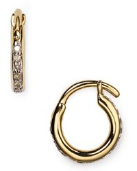 Adina Reyter - Pavé Huggie Hoop Earrings - Lyst