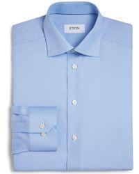 Eton of Sweden - Of Sweden Basic Regular Fit Small Herringbone Dress Shirt - Lyst