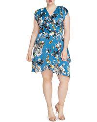 Rachel Roy - Plus Pierce Floral Print Faux-wrap Dress - Lyst