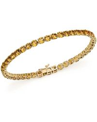 Bloomingdale's - Citrine Tennis Bracelet In 14k Yellow Gold - Lyst
