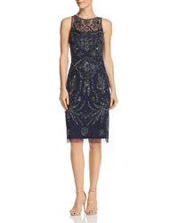 Adrianna Papell - Embellished Sheath Dress - Lyst