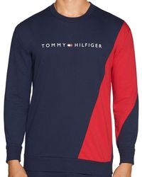 50b532ab Tommy Hilfiger Long Sleeve Taped T-shirt in Blue for Men - Lyst