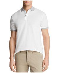 Bloomingdale's - Mini Piqué Tipped Short Sleeve Polo Shirt - Lyst