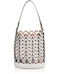 051aa6d4e008 Lyst - Kate Spade Faye Drive Hallie Daisy Perforated Leather Tote in ...