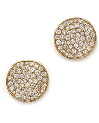 Ippolita - 18k Gold Stardust Studs With Diamonds - Lyst