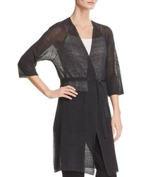 Eileen Fisher - Sheer Duster Wrap Cardigan - Lyst