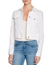 J Brand - Harlow Trucker Denim Jacket In White - Lyst