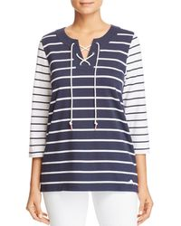 Tommy Bahama - Floricita Striped Lace-up Top - Lyst