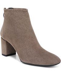 Via Spiga - Women's Noel Suede Block Heel Booties - Lyst
