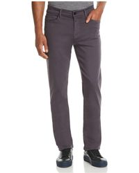 7 For All Mankind - Luxe Sport Slimmy Straight Slim Fit Jeans In Gunmetal - Lyst